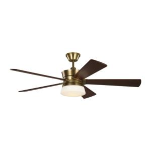 Atlantic 5 Blade 56 Inch Ceiling Fan with Handheld Control and Includes Light Kit