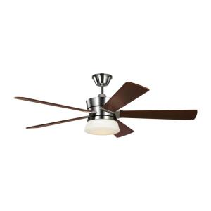 Atlantic - 5 Blade Ceiling Fan with Handheld Control and Includes Light Kit in Designer Style - 56 Inches Wide by 12.9 Inches High