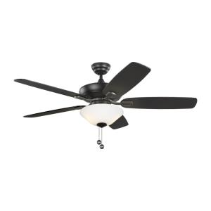 Colony Max Plus - 5 Blade Ceiling Fan with Pull Chain Control and Includes Light Kit in Transitional Style - 52 Inches Wide by 17.7 Inches High