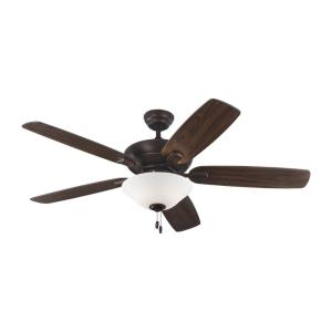 Colony Max 5 Blade 52 Inch Ceiling Fan with Pull Chain Control and Includes Light Kit