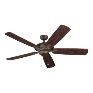 Cyclone 5 Blade 60 Inch Ceiling Fan with Pull Chain Control