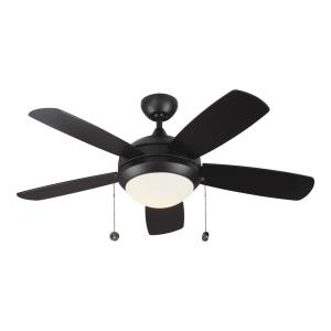 Discus Classic II 5 Blade 44 Inch Ceiling Fan with Pull Chain Control and Includes Light Kit