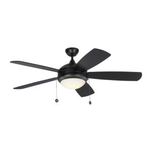 Discus Ornate 5 Blade 52 Inch Ceiling Fan with Pull Chain Control and Includes Light Kit