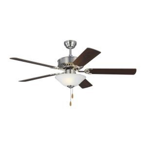 Haven - 5 Blade Ceiling Fan with Pull Chain Control and Includes Light Kit in Transitional Style - 52 Inches Wide by 18.3 Inches High