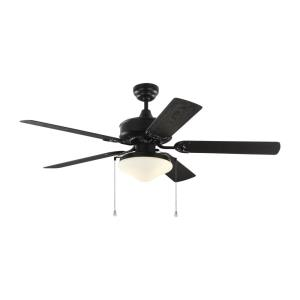 Haven - 5 Blade Outdoor Ceiling Fan with Pull Chain Control and Includes Light Kit in Outdoor Style - 52 Inches Wide by 13.9 Inches High