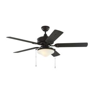 Haven 5 Blade 52 Inch Outdoor Ceiling Fan with Pull Chain Control and Includes Light Kit