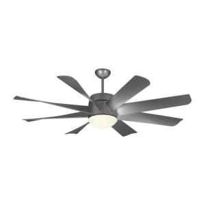 Turbine 8 Blade 56 Inch Ceiling Fan with Handheld Control and Includes Light Kit