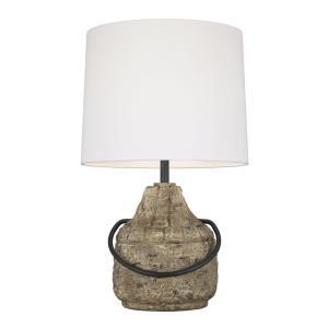 Augie  1 Light Table Lamp Resin White Linen