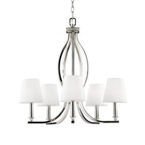 Pave' - Five Light Crystal Inlay Chandelier
