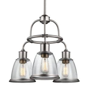 Hobson Chandelier 3 Light Steel
