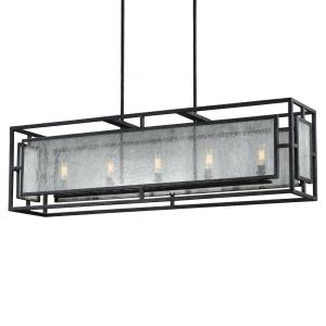 Prairielands Chandelier 5 Light Steel/Glass