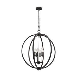 Corinne - Pendant 6 Light in Transitional Style - 24.5 Inches Wide by 27.88 Inches High