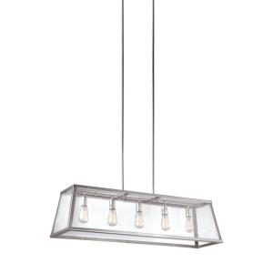 Harrow - Five Light Island in Modern Style - 12 Inches Wide by 13 Inches High
