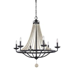 Nori Chandelier 6 Light Steel