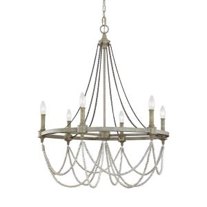 Beverly - Chandelier 6 Light Steel in Traditional Style - 28 Inches Wide by 35.75 Inches High
