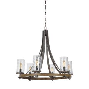 Angelo Chandelier 6 Light Steel