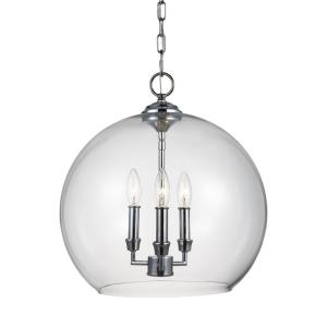 Lawler - Pendant 3 Light in Traditional Style - 16 Inches Wide by 16.75 Inches High