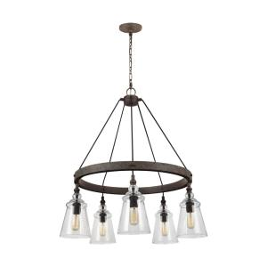 Loras - 5 Light Chandelier in Traditional Style - 28.63 Inches Wide by 35 Inches High