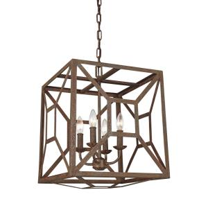 Marquelle Chandelier 4 Light Steel