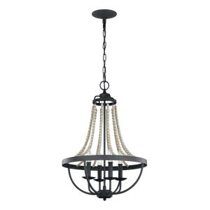 Nori - Chandelier 4 Light Steel in Traditional Style - 17.13 Inches Wide by 29 Inches High