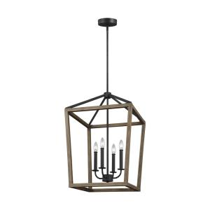 Gannet - Chandelier 4 Light Steel in Traditional Style - 18 Inches Wide by 26.75 Inches High