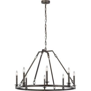 Landen - Chandelier 8 Light Steel in Transitional Style - 33.88 Inches Wide by 23.25 Inches High
