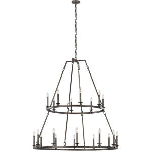Landen - 2-Tier Chandelier 20 Light Steel in Transitional Style - 48 Inches Wide by 52.63 Inches High