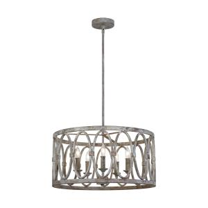 Patrice Chandelier 5 Light Steel
