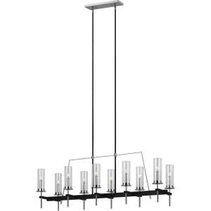 Broderick Linear Chandelier 10 Light Steel