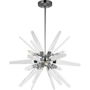 Thorne - Chandelier 6 Light Steel in Contemporary Style - 26 Inches Wide by 18.75 Inches High