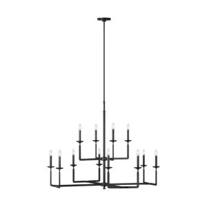 Ansley - Chandelier 12 Light Steel in Modern Style - 44 Inches Wide by 35.75 Inches High