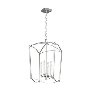 Sean Lavin-Chandelier 4 Light Steel in Period Inspired Style-16 Inches Wide by 26.38 Inches Tall