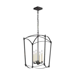 Thayer - Chandelier 4 Light Steel in Period Inspired Style - 16 Inches Wide by 26.38 Inches High