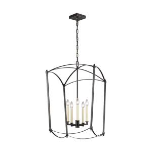Thayer - Chandelier 5 Light Steel in Period Inspired Style - 19.25 Inches Wide by 31.25 Inches High