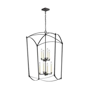 Thayer - 2-Tier Chandelier 8 Light Steel in Period Inspired Style - 24 Inches Wide by 40.88 Inches High