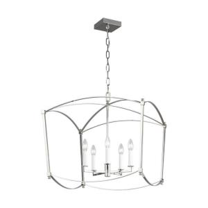 Sean Lavin-Chandelier 5 Light Steel in Period Inspired Style-23.13 Inches Wide by 23.13 Inches Tall