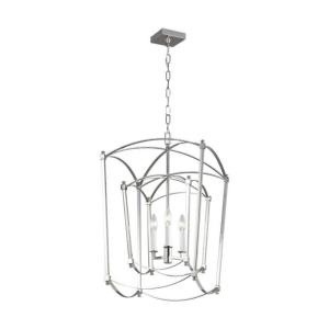 Thayer - Chandelier 3 Light Steel in Period Inspired Style - 17 Inches Wide by 27.5 Inches High