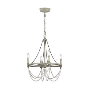 Beverly - Chandelier 4 Light Steel in Traditional Style - 18 Inches Wide by 23.88 Inches High