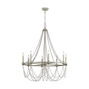 Beverly - Chandelier 8 Light Steel in Traditional Style - 36 Inches Wide by 44.75 Inches High