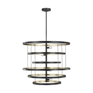 Celeste - Chandelier 5 Light Steel in Modern Style - 30 Inches Wide by 25.63 Inches High