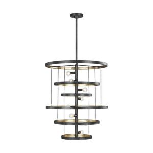 Celeste - Chandelier 8 Light Steel in Modern Style - 24 Inches Wide by 28.63 Inches High