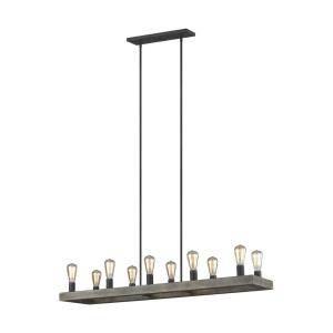Avenir Linear Chandelier 10 Light Steel