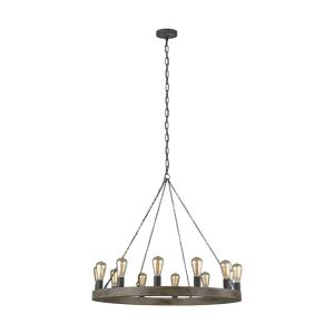 Avenir - Chandelier 12 Light Steel in Old World Style - 36 Inches Wide by 32 Inches High