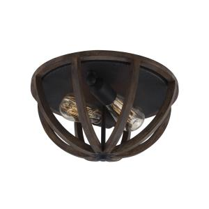Allier - 2 Light Flush Mount in Transitional Style - 13 Inches Wide by 7 Inches High