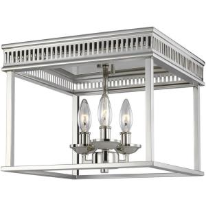 Woodruff - Three Light Flush Mount in Transitional Style - 13 Inches Wide by 9.75 Inches High