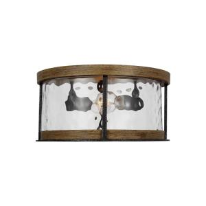 Angelo - Two Light Flush Mount in Rustic Style - 13.75 Inches Wide by 6.75 Inches High