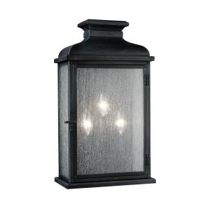 Pediment - Three Light Outdoor Wall Sconce