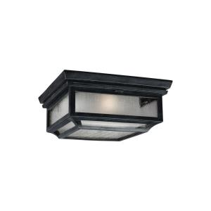 Shepherd - Two Light Outdoor Flush Mount in Transitional Style - 13 Inches Wide by 5.75 Inches High