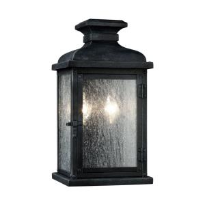 Pediment - Two Light Outdoor Wall Sconce