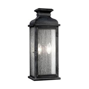 Pediment - 7 Inch Two Light Outdoor Wall Sconce